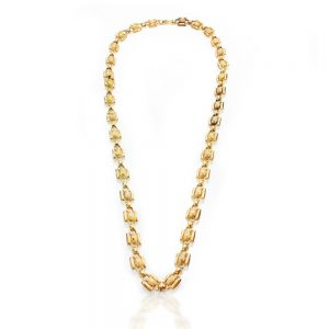 Antique Georgian 15ct Yellow Gold Fancy Link Chain Necklace