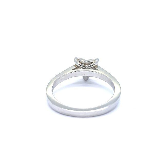 1.06ct Heart Shaped Diamond Ring in Platinum