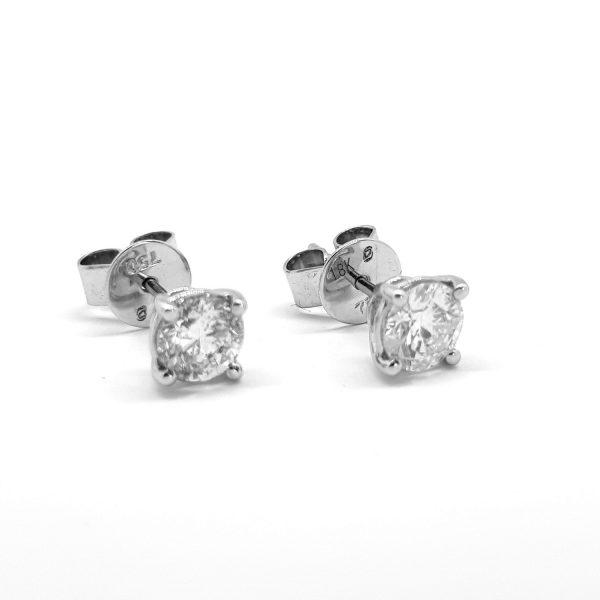 1.01ct Diamond Stud Earrings in 18ct White Gold