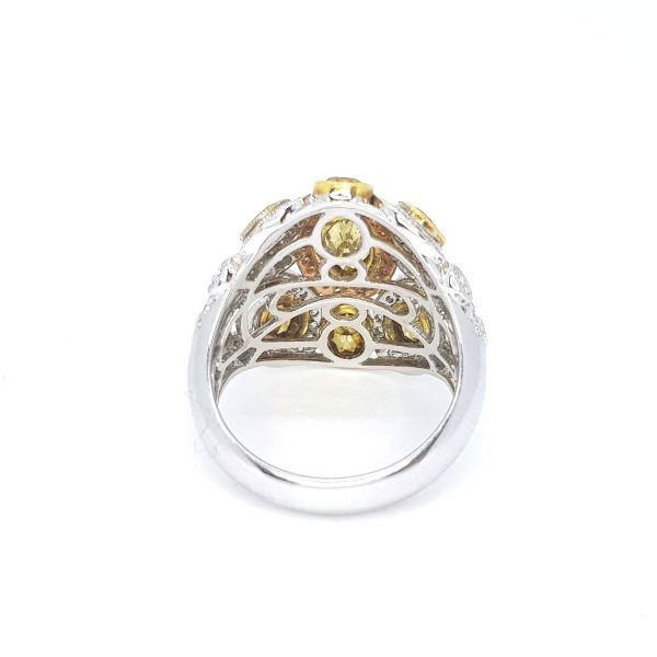 Fancy Yellow Diamond Dress Ring in 18ct Gold, 2.25 carats