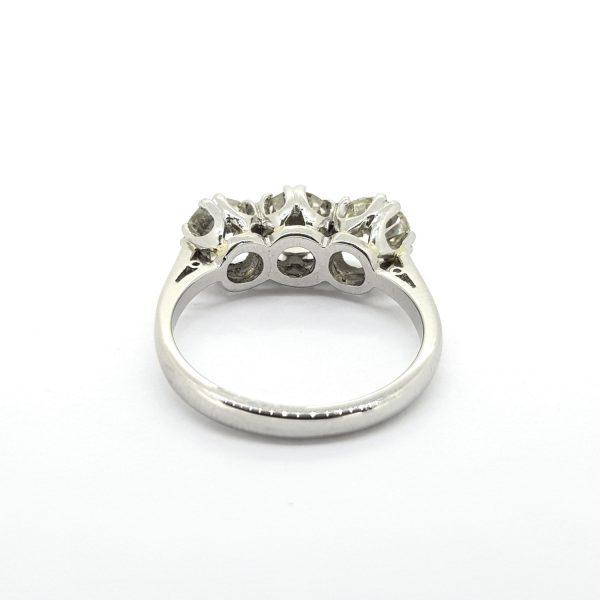 Diamond Three Stone Ring in Platinum, 2.15 carat total