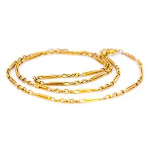 Antique Art Deco 15ct Chain Necklace