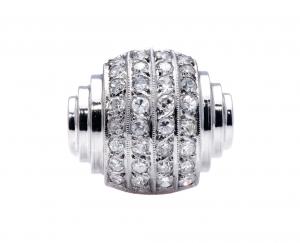 Antique Art Deco Diamond Bombé Ring