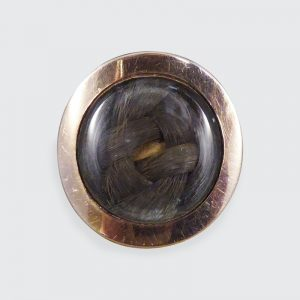 Antique Georgian Memorial Ring with Plaited Hair