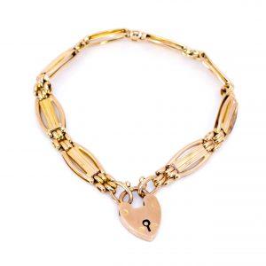 Antique Victorian 9ct Gold Gate Bracelet
