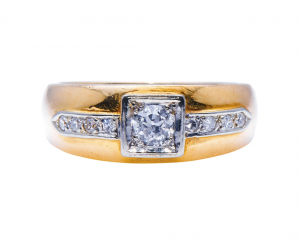 Art Deco Antique Diamond Band Ring