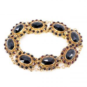 Vintage Garnet and Gold Bracelet