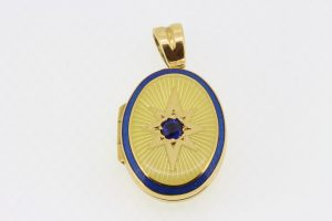 Deakin and Francis Gold Oval Locket