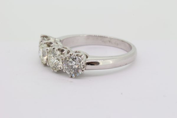 Four Stone Diamond Ring in 18ct White Gold, 2.10 carats
