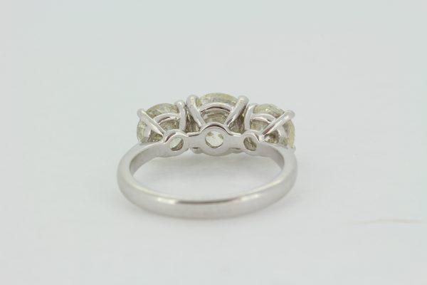 Classic Three Stone Diamond Trilogy Ring, 3.69 carats
