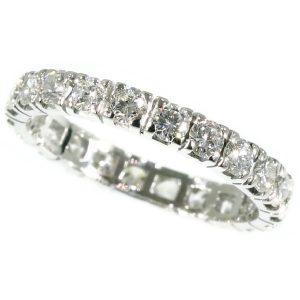 Vintage 2.20ct Diamond Full Eternity 18ct White Gold Ring