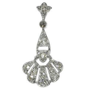 Antique Art Deco Platinum Diamond Pendant