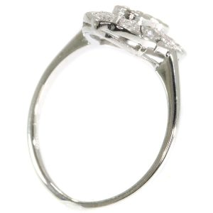 Antique Art Deco Brilliant Cut Diamond White Gold Engagement Ring
