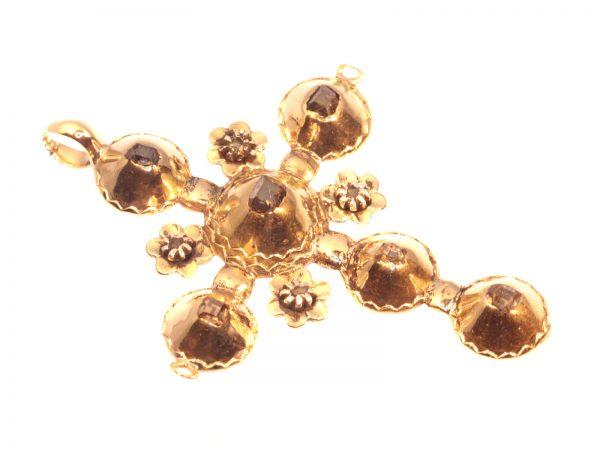 Antique 18th Century Baroque Diamond Set Gold Cross
