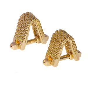 Vintage Fifties Sturdy 18ct Gold Cufflinks