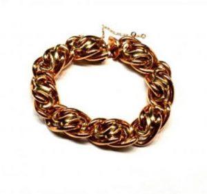 Vintage Bi Colour 18ct Gold Link Bracelet, Circa 1960s