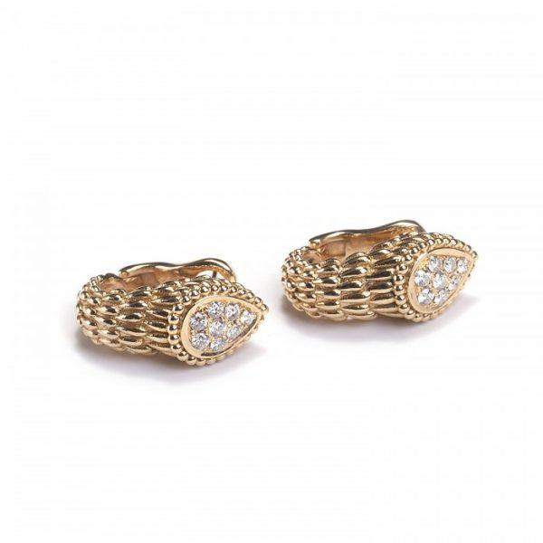 Boucheron Serpent Boheme Gold Earrings with Diamonds