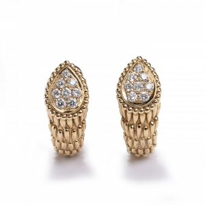 Boucheron Serpent Boheme 18ct Gold Earrings with Diamonds