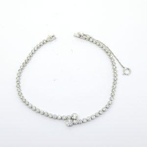 Bezel Set Diamond Line Bracelet, 2.64 carat total