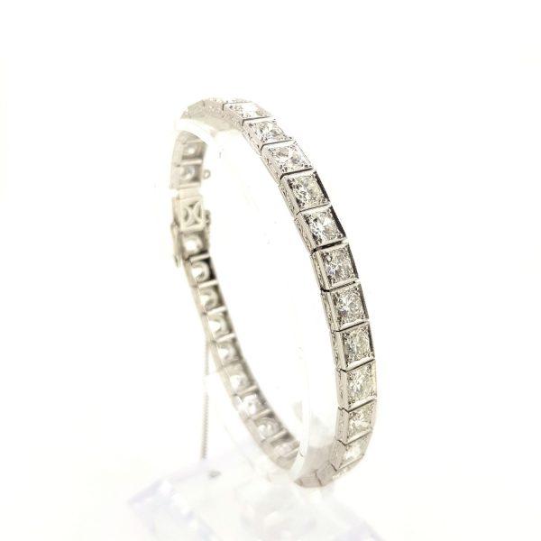 Vintage 12ct Diamond Line Bracelet in Platinum