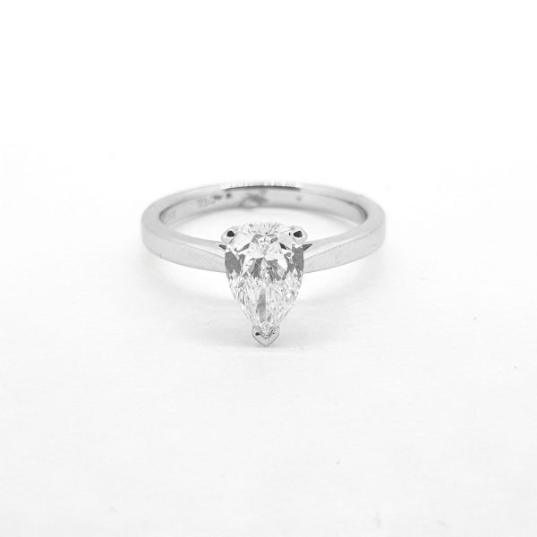 1.20ct Pear Cut Diamond Solitaire Engagement Ring