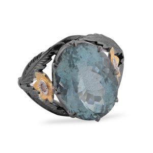 Adore Aquamarine Diamond Ring