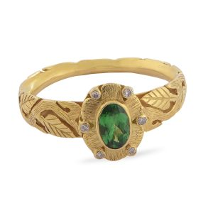 Bria Tsavorite Diamond Ring
