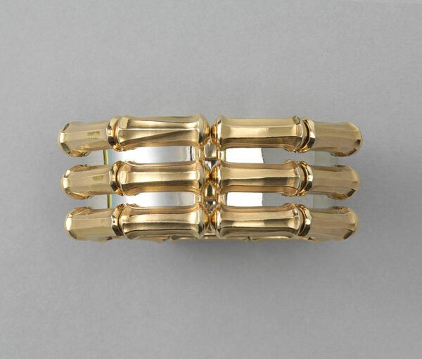 Cartier Bi-Colour 18ct Gold Bamboo Cuff Bangle Bracelet, Signed and numbered 640927