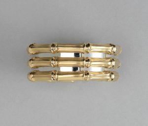 Cartier Bi-Colour 18ct Gold Bamboo Cuff Bangle Bracelet