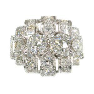 Antique Art Deco Old European Cut Diamond Ring, 2.50ct Total