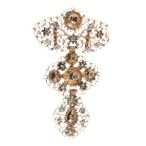 Antique Georgian 18ct Gold Diamond Set Cross