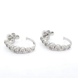 Diamond Hoop Earrings in 18ct White Gold, 0.70 carats