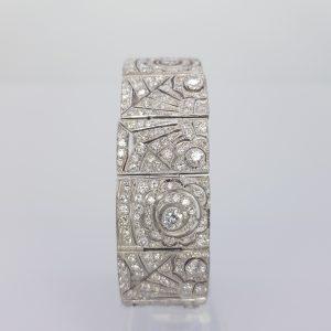 Art Deco Style Diamond Panel Bracelet, 16.50 carat total
