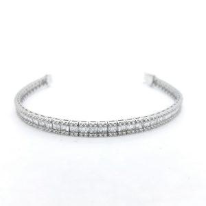 Baguette Cut Diamond Line Bracelet, 4.42 carat total