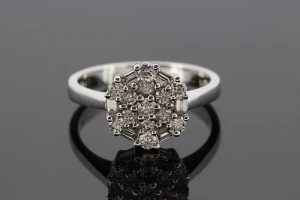 Contemporary Diamond Floral Cluster Ring