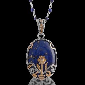 The Grace Lapis Lazuli Diamond Pendant