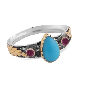 The Tiana Turquoise Tourmaline Ring