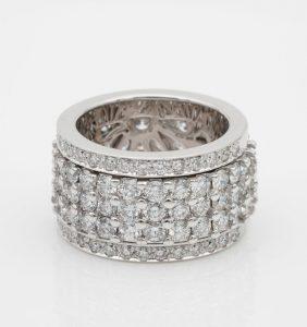 Impressive 6.50ct Night and Day Rotating Diamond Eternity Ring