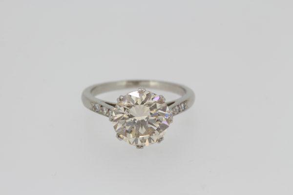 3.01ct Diamond Solitaire Engagement Ring in Platinum