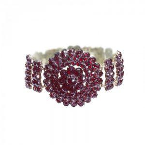 Antique Bohemian Garnet Bracelet, Circa 1900