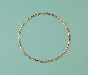 Cartier Gold Curb Link Chain Necklace, Signed and Numbered