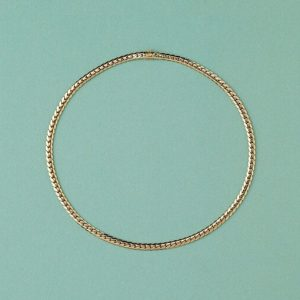 Cartier Gold Curb Link Chain Necklace, Signed and Numbered Cartier 617761, Comes with the original box
