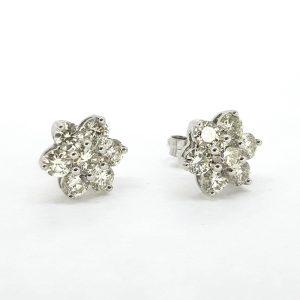 Diamond Star Stud Earrings, 2.20 carat total