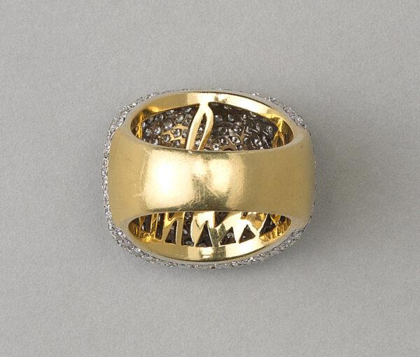 Diamond Bonheur Bombe Dress Ring in 18ct Yellow Gold, 4.00 carat total