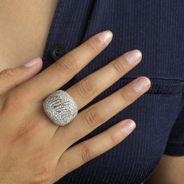 4ct Diamond Bonheur Bombe Dress Ring