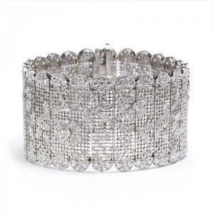 Diamond Tapestry Bracelet in Platinum, 14.62 carats