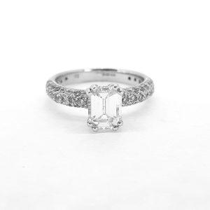 Emerald Cut Diamond Engagement Ring, 1.00 carat