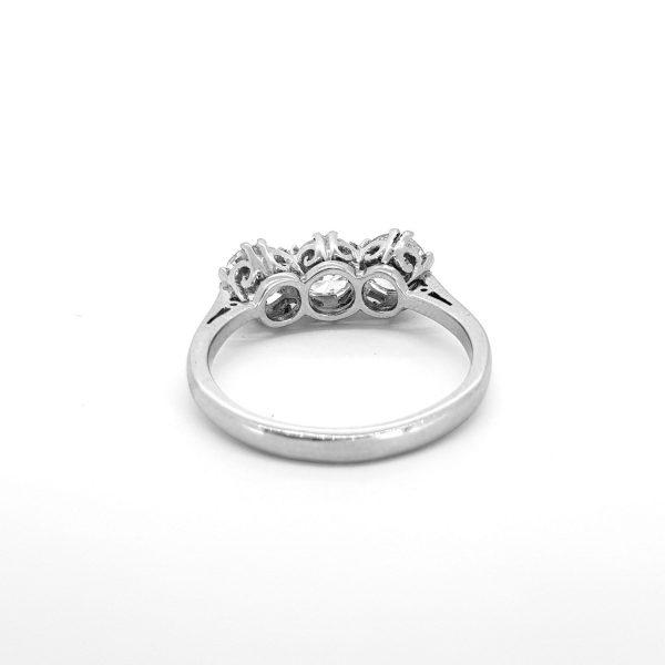 Diamond Three Stone Ring, 1.90 carats G Colour SI1 Clarity