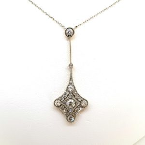 Belle Epoque Diamond Pendant in 18ct Gold