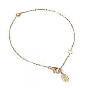 Cartier 18ct Rose Gold Bracelet with Diamond; collet-set round brilliant-cut diamond presented on 18ct rose gold trace chain, with a Cartier pouch